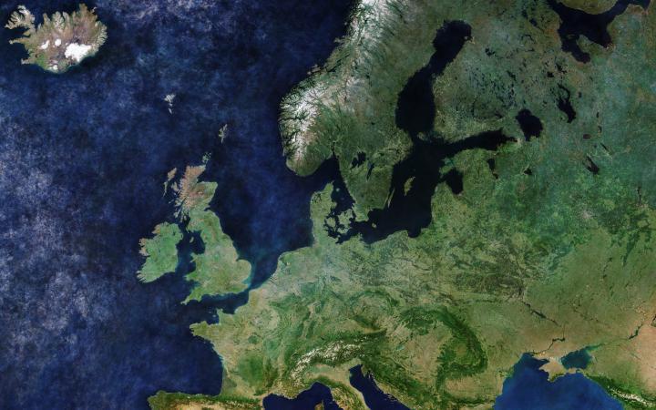 Satellitenbild von Europa