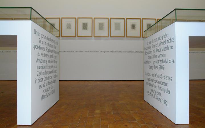 """Ausstellungsansicht Georg Nees: Die große Versuchung"""""""