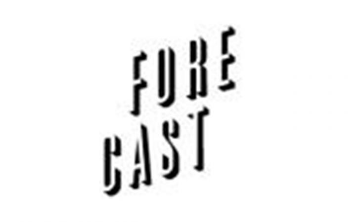 Forecast-Logo als schräger Schriftzug