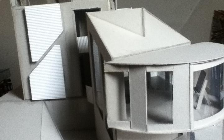 House construction with paper