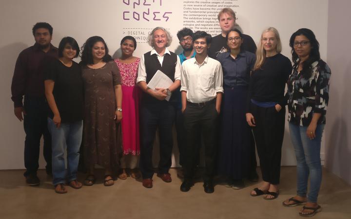 Das Bild zeigt die GewinnerInnen des Coding Culture Hackathons in Mumbai