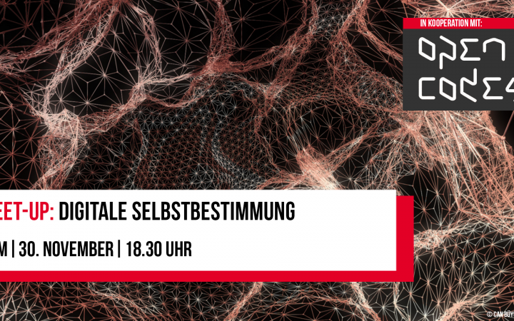 Poster of the event »Meet Up: Digital Self-Determination«