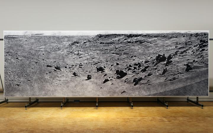 Big picture of a moonscape