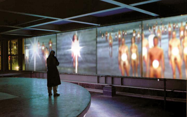 """Installationsansicht """"Stefano Scheda: Meteo 2004"""""""