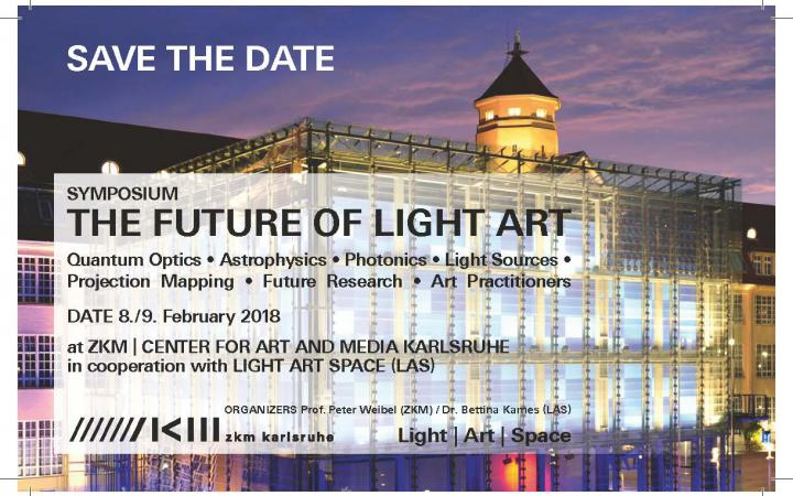 Poster of the event The Future of Light Art