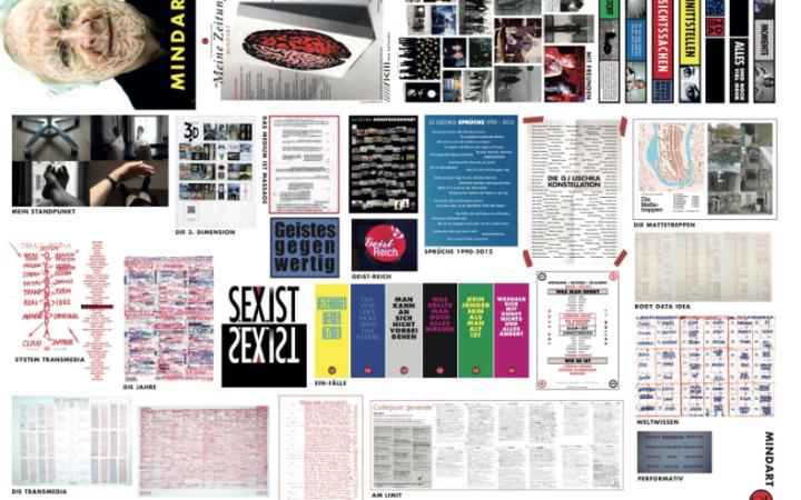 """Vorderseite von """"Meine Zeitung"""" von Gerhard Johann Lischka, erschienen 2020, zeigt viele seine Arbeiten in der Zusammenschau"""
