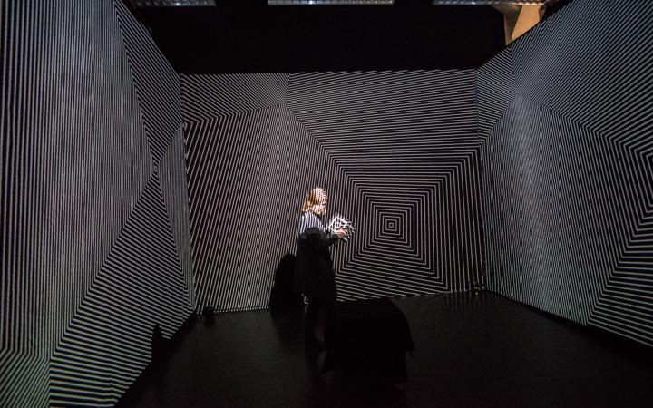 Installationsansicht der Klanginstallation »Quad²« von Lucas Grey.