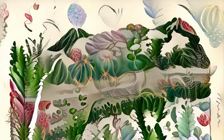 Klassische Illustrationen Haeckels, die mithilfe eines Machine-Learning-Algorithmus auf Querschnittsdiagramme aus der Critical Zone-Forschung gemappt wurden