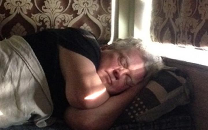 Photo of a sleeping man