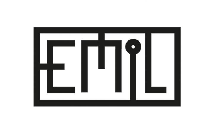 Schwarz-weißes Logo des Projektes »Bereitstellung von Multimedia-Objekten durch Emulation«