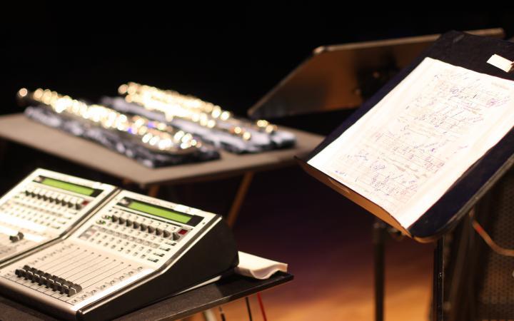 Setup Pole mit Noten von Karlheinz Stockhausen