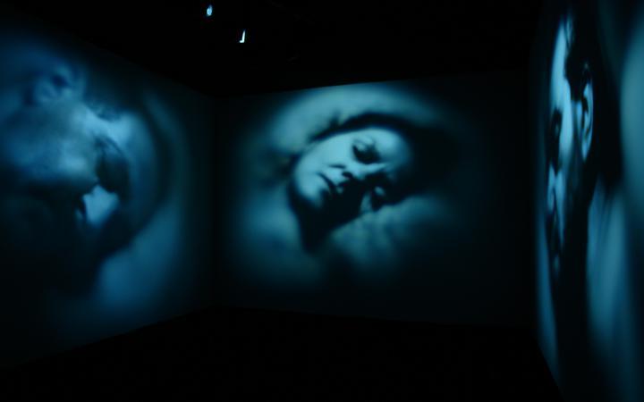 """Detail der Ausstellung """"Pèlerinages Kunstfest Weimar"""""""