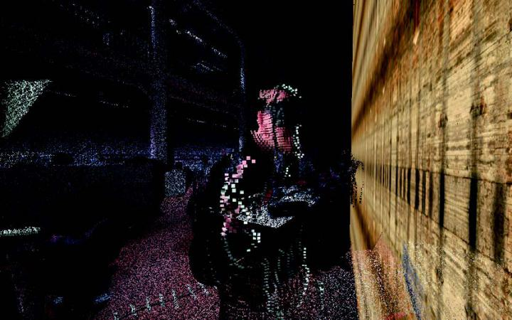 Darstellung eines Manns mit einer VR-Brille
