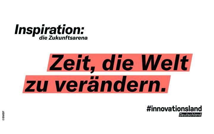 Grafik mit dem Text »Inspiration: die Zukunftsarena«