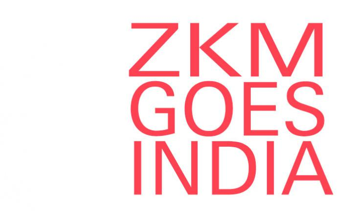 Lettering »zkm goes india«