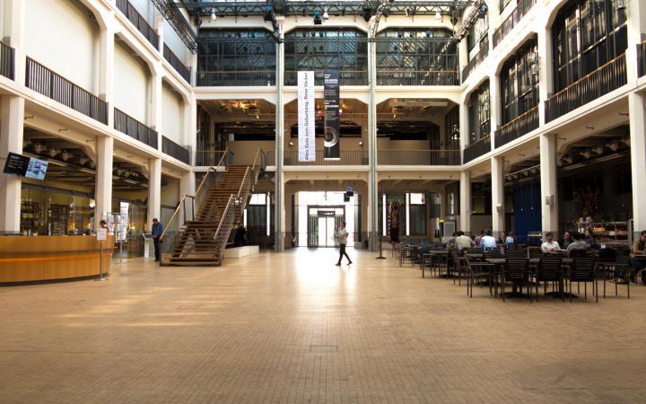 Das ZKM_Foyer von unten