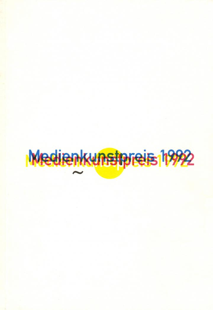 Cover der Publikation »Medienkunstpreis 1992«