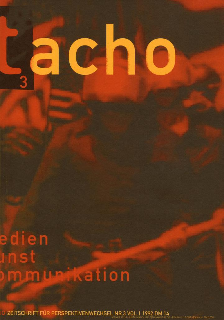 Cover of the publication »Tacho. Medien Kunst Kommunikation«