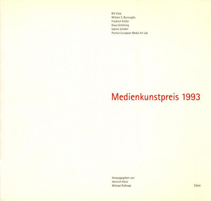 Cover der Publikation »Medienkunstpreis 1993«