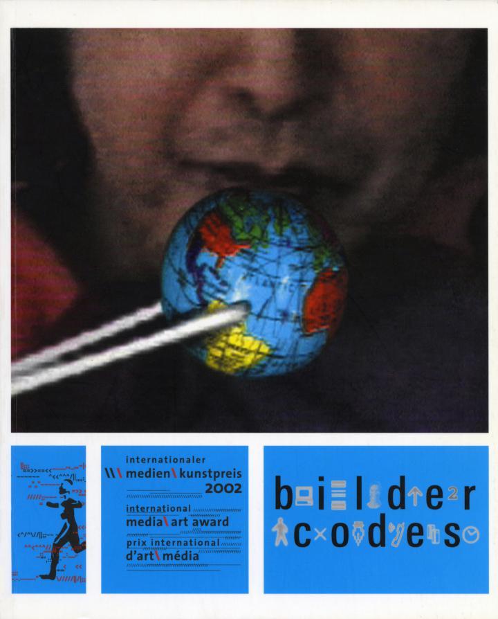 Cover der Publikation »Bilder Codes. Internationaler Medienkunstpreis / International Media Art Award. 2002«