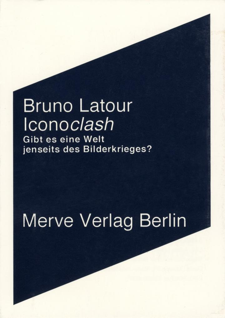 Cover of the publication »Bruno Latour: Iconoclash«