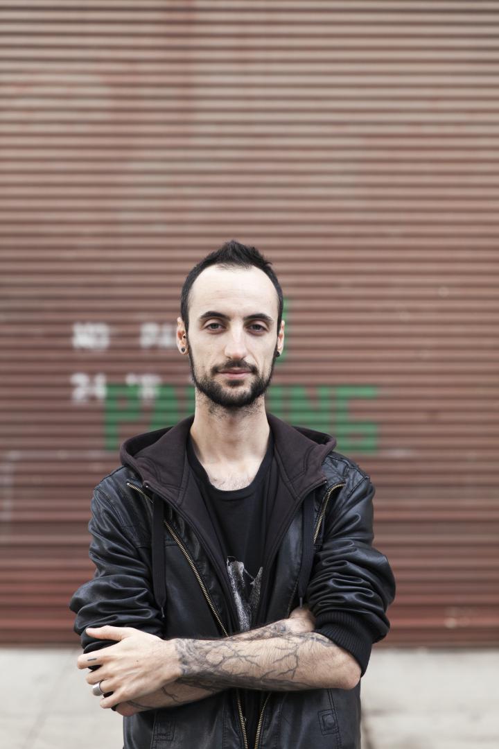 Portrait eines Mannes mit Lederjacke