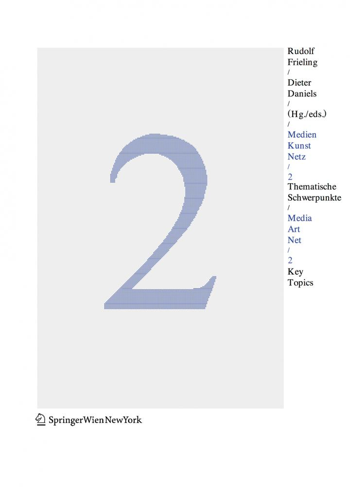 Cover of the publication »Medien Kunst Netz 2 / Media Art Net 2«