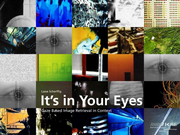 Cover of the publication »It's in Your Eyes«