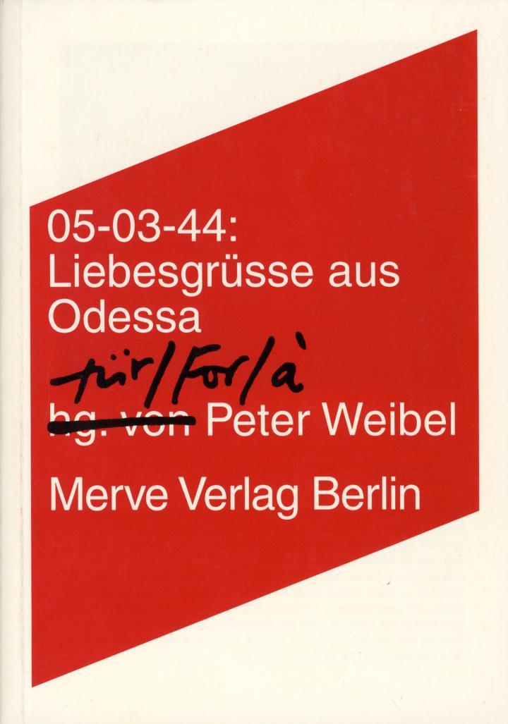 Cover of the publication »05-03-44. Liebesgrüsse aus Odessa«