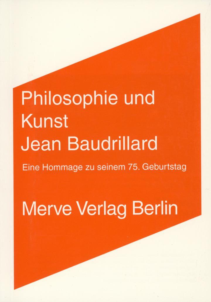 Cover of the publication »Philosophie und Kunst. Jean Baudrillard«