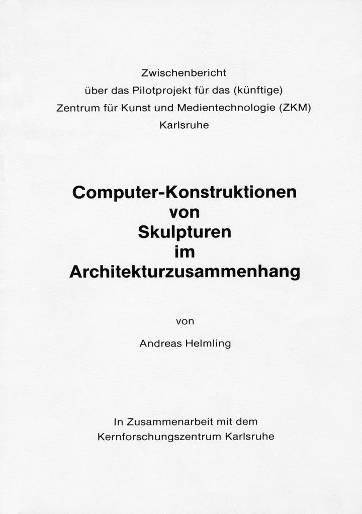 Cover der Publikation »Computer-Konstruktionen von Skulpturen im Architekturzusammenhang«