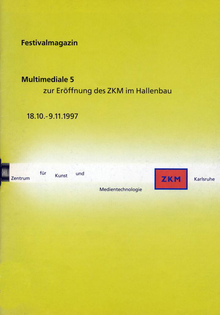 Cover der Publikation »Multimediale 5. Festivalmagazin«
