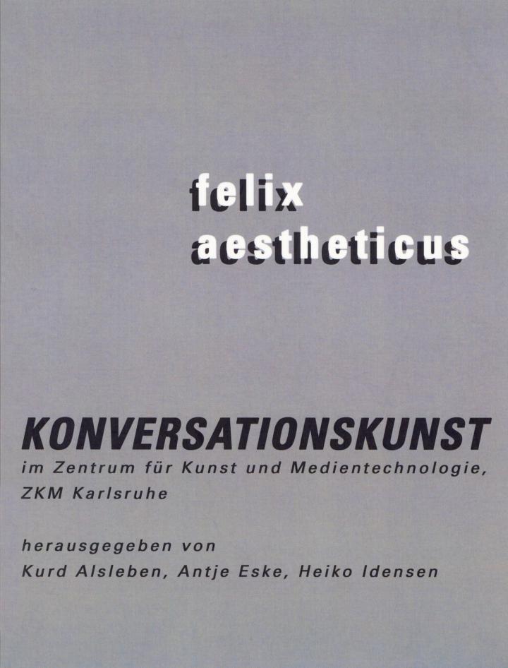 Cover of the publication »Konversationskunst«