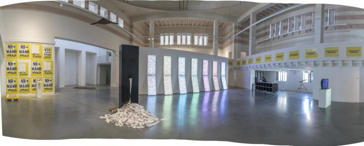Exhibition view »GLOBAL CONTROL AND CENSORSHIP« in Žilina