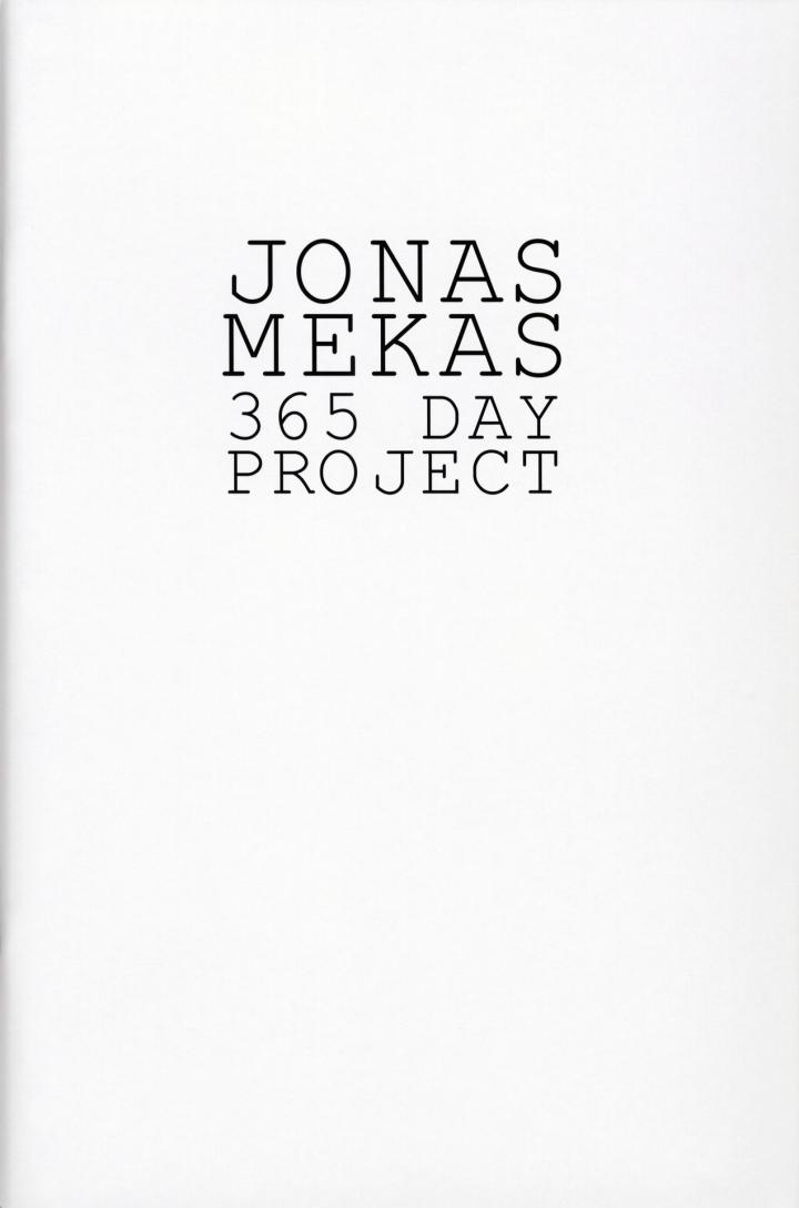 Cover der Publikation »Jonas Mekas: 365 Day Project«