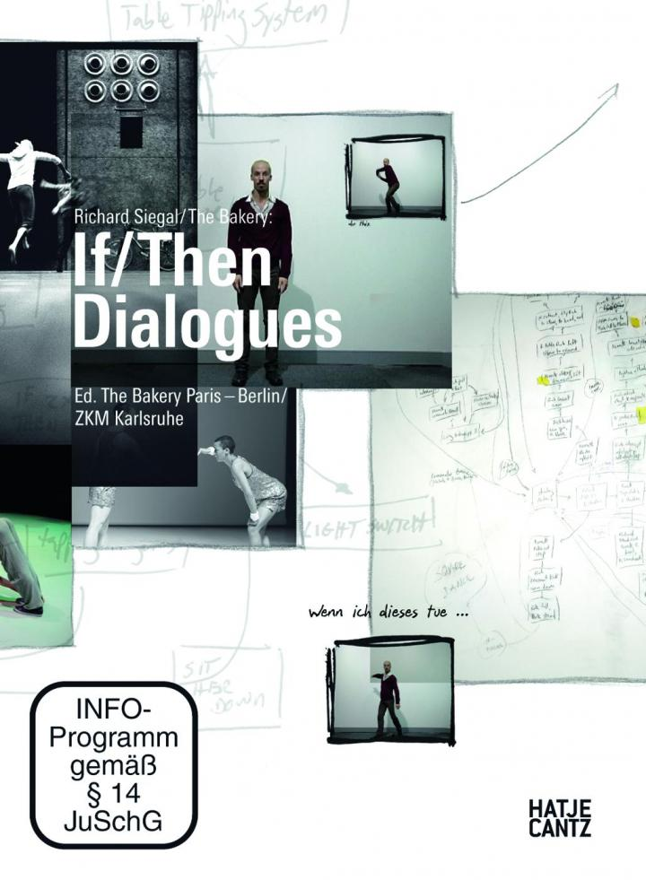 Cover of pthe ublication »If/Then Dialogues« with screenshots and text