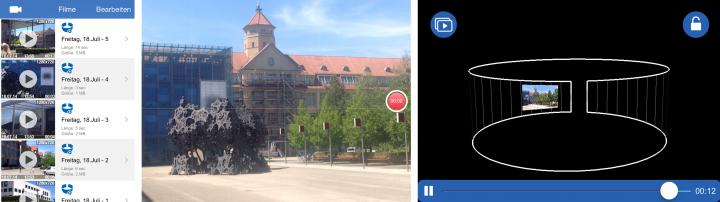 Screenshot der App »Motion Picture 2.0«