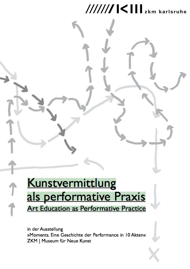 Cover of the brochure »Kunstvermittlung als performative Praxis«