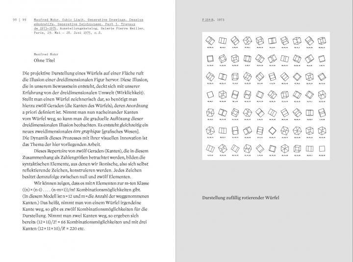 Beispielseiten aus der Publikation »Der Algorithmus des Manfred Mohr«
