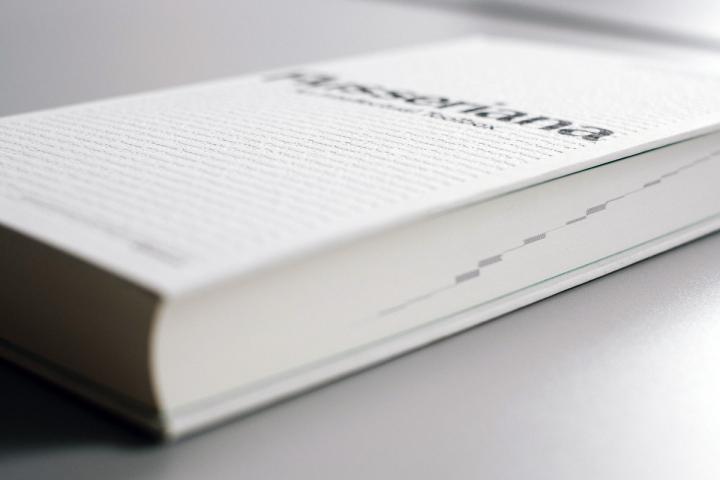 Blick auf das Buch »Flusseriana« von der Seite.