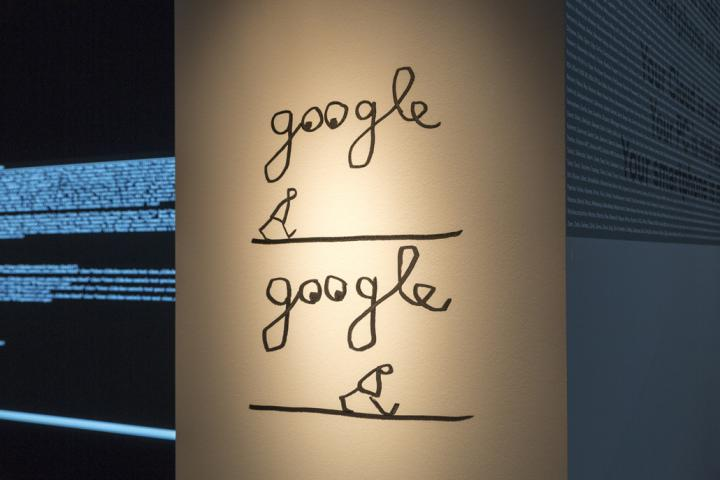 """Strichmännchen und dem Schriftzug """"google"""""""
