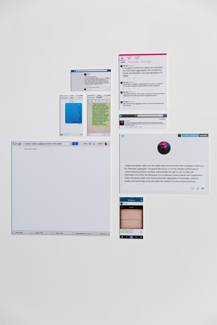 Auf einer Leinwand sind verschiedene Screenshots abgebildet