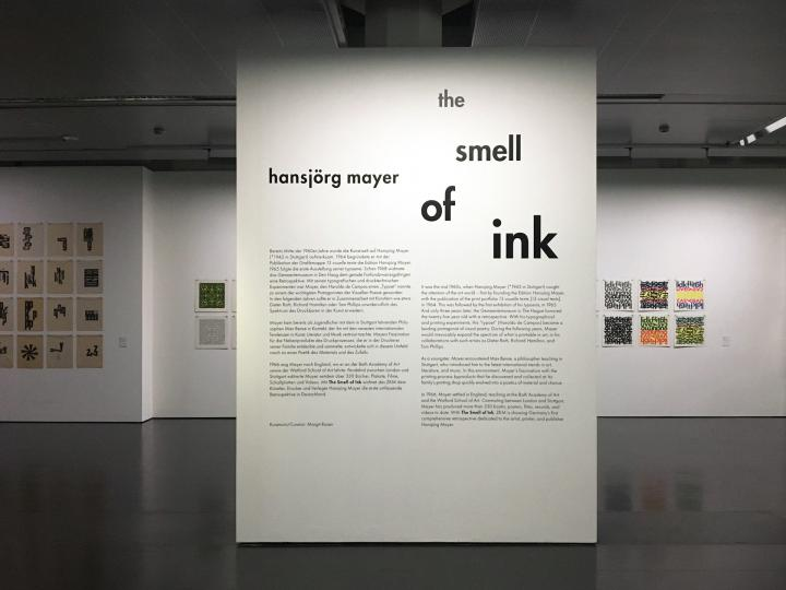View of the exhibition »Hansjörg Mayer. The Smell of Ink«