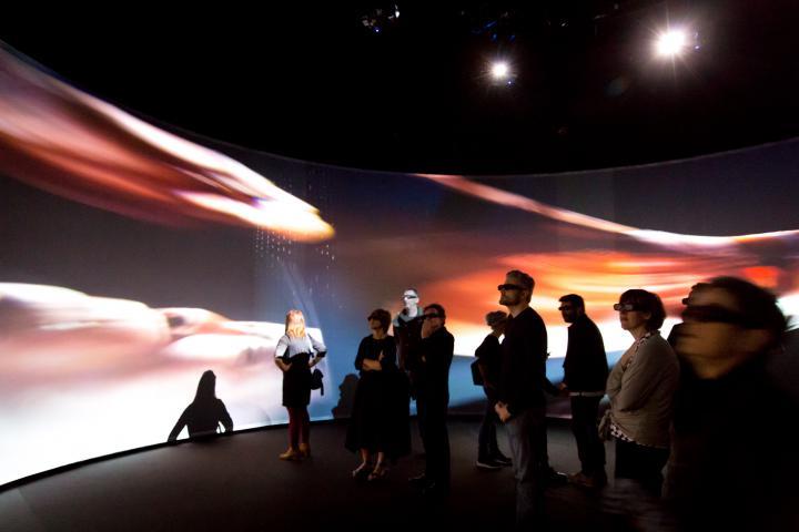Blick in die Ausstellung »The Art of Immersion«