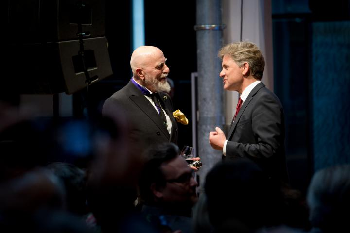 Markus Lüpertz and Frank Mentrup at the opening