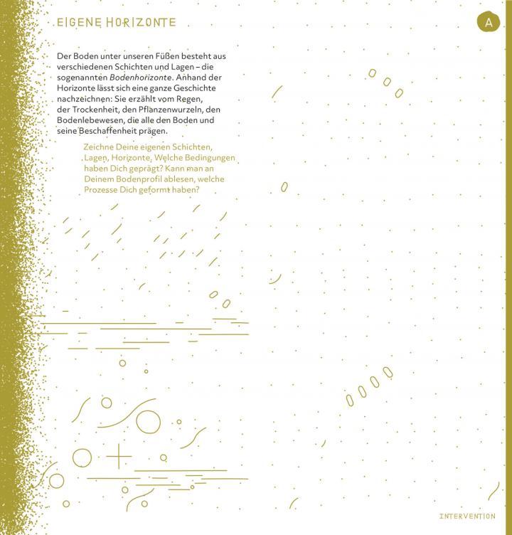 Seitenansicht der Ausstellungsbroschüre Critical Zones
