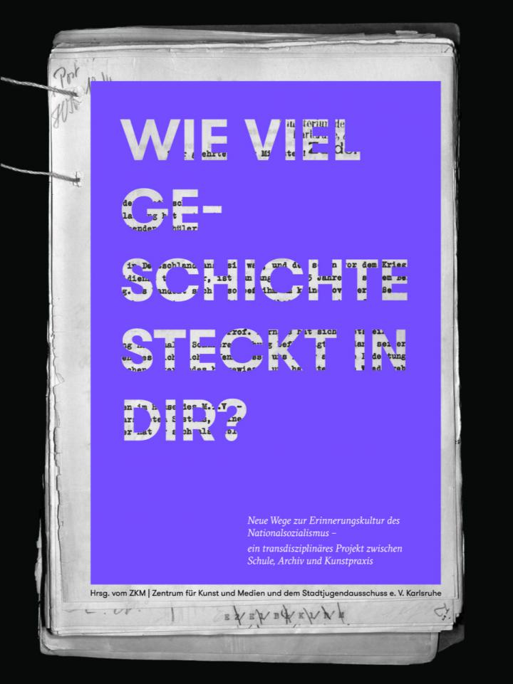 "Cover of the book ""Wie viel Geschichte steckt in dir?"", edited by ZKM"