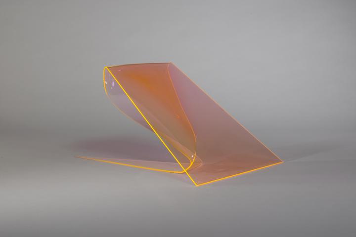ohne Titel (Orange fluoreszierend)