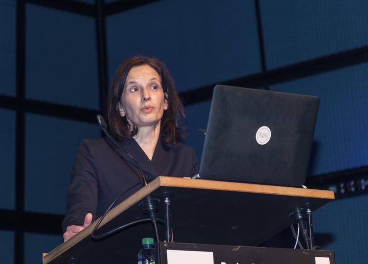 Nathalie Bredella at her presentation at the Frei Otto Symposium
