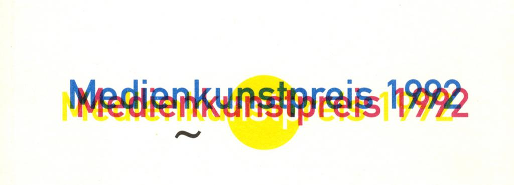 Cover of the publication »Medienkunstpreis 1992«
